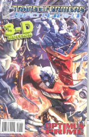 Transformers Spotlight Optimus Prime 3D (2008) IDW Publishing comic book
